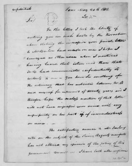 William Lee to James Madison, May 24, 1812.