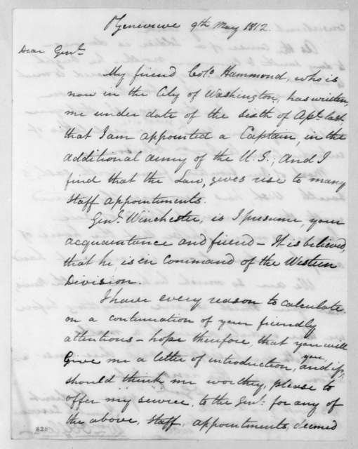 William Oliver Allen to Andrew Jackson, May 9, 1812