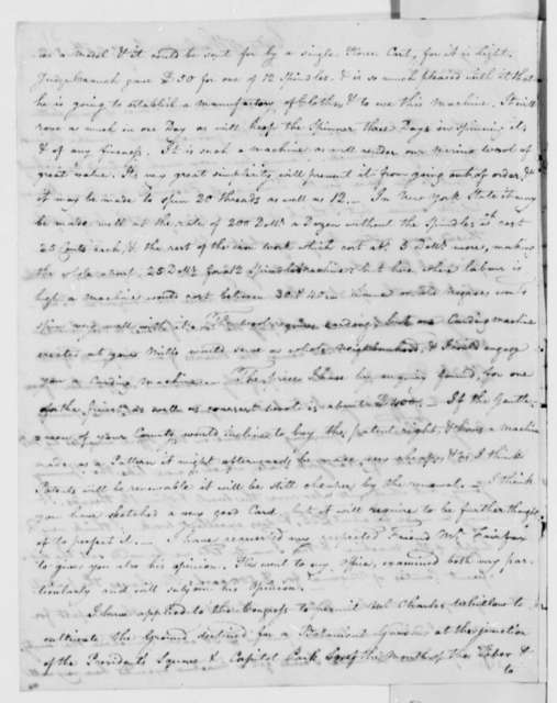 William Thornton to Thomas Jefferson, January 20, 1812