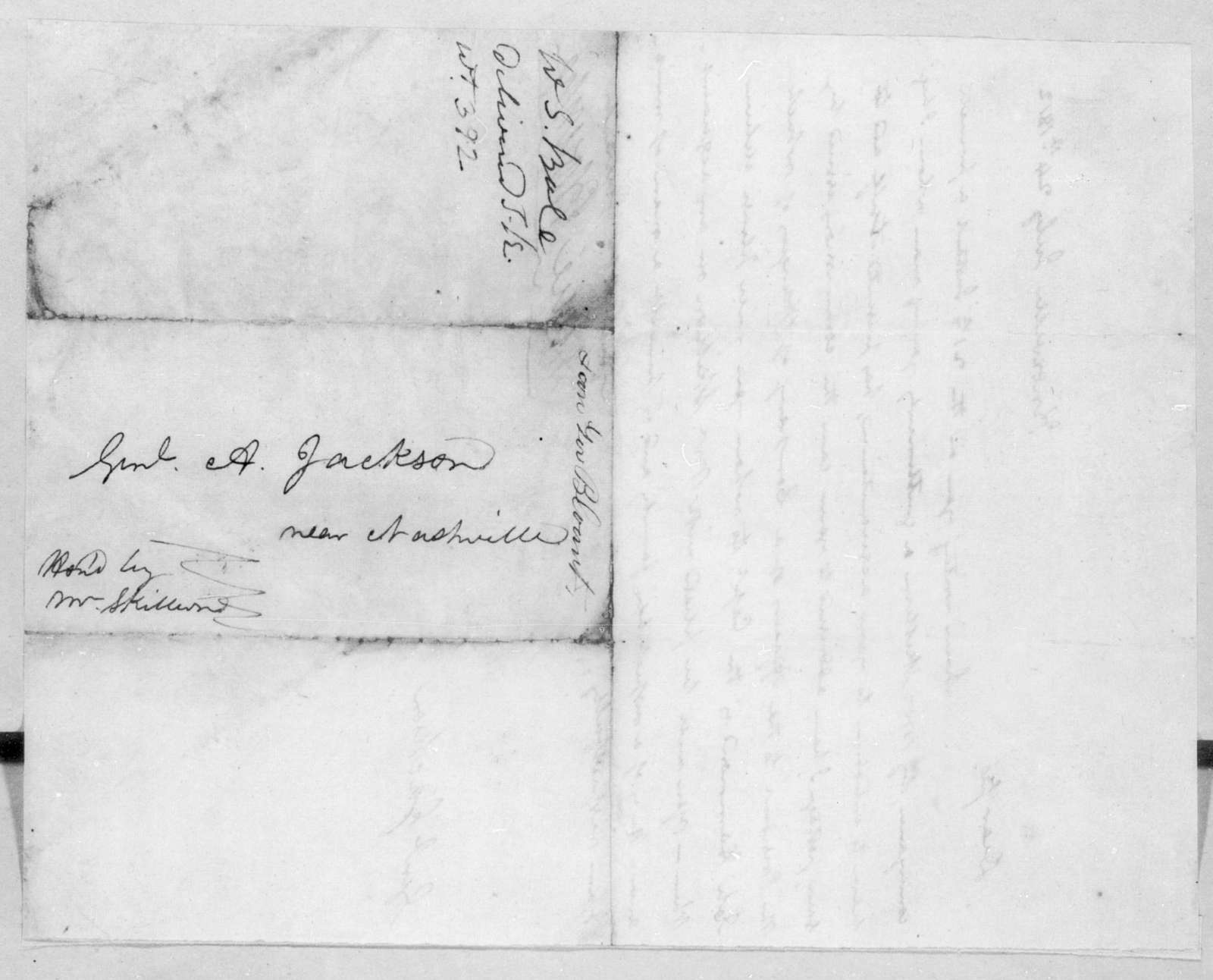 Willie Blount to Andrew Jackson, July 24, 1812