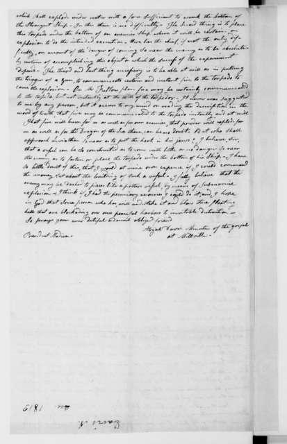 Adijah Davis to James Madison, December 28, 1813.