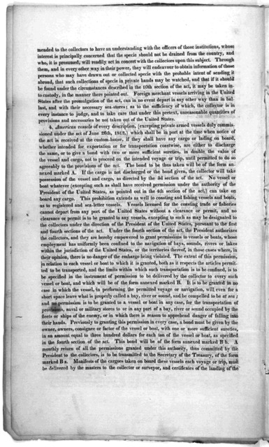 An act laying an embargo on all ships and vessels in the ports and harbors of the United States .... December 17, 1813. Approved. James Madison. [Washington 1813].