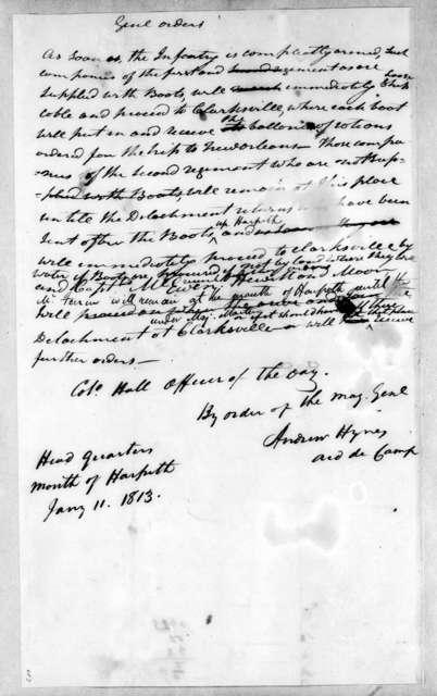 Andrew Hynes, January 11, 1813