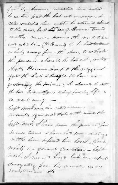 Andrew Hynes, January 5, 1813