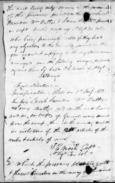 Andrew Jackson, January 20, 1813