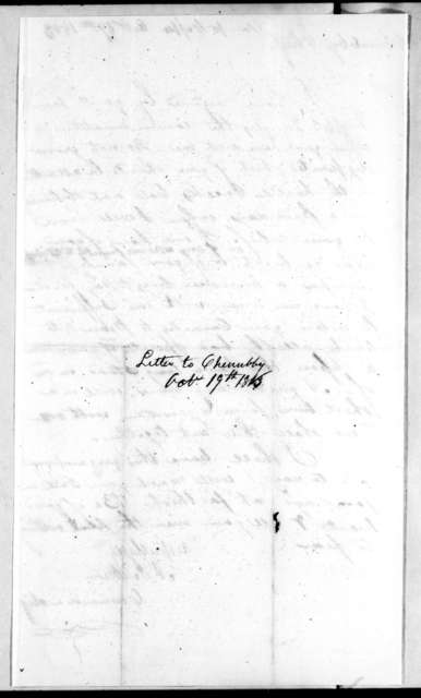 Andrew Jackson to Chief Chennabee, October 19, 1813