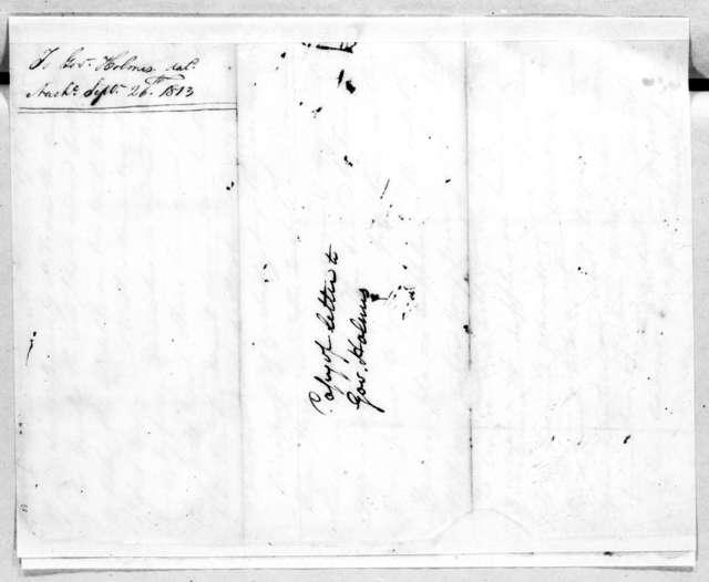 Andrew Jackson to David Holmes, September 26, 1813