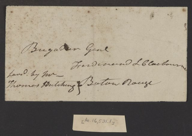 Andrew Jackson to Ferdinand L. Claiborne, March 25, 1813