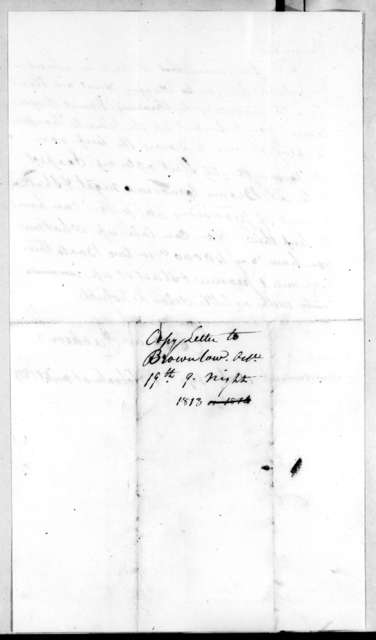 Andrew Jackson to Isaac Brownlow, October 19, 1813