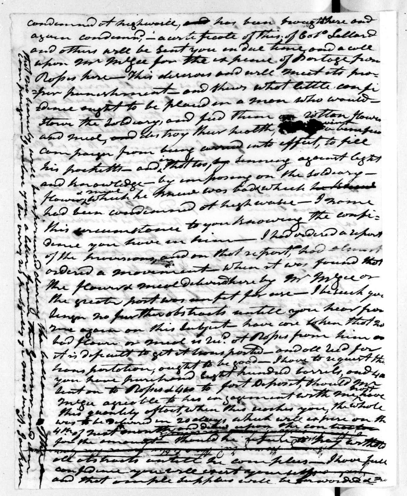 Andrew Jackson to John Cocke