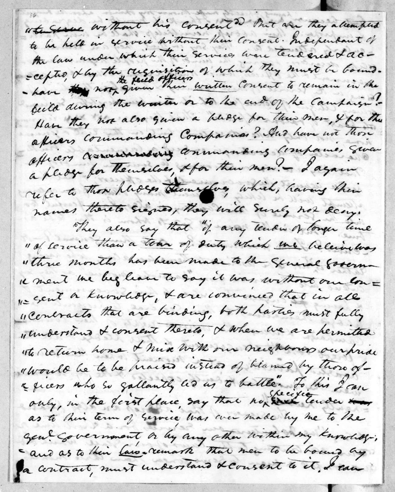 Andrew Jackson to John Coffee, December 25, 1813