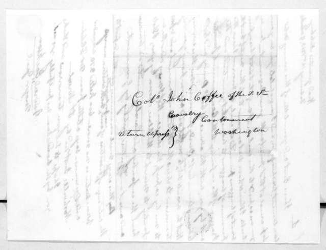 Andrew Jackson to John Coffee, February 16, 1813