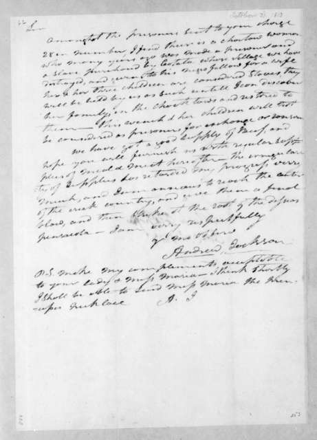 Andrew Jackson to Leroy Pope, October 31, 1813