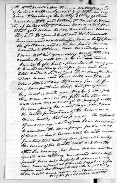 Andrew Jackson to Rachel Donelson Jackson, December 14, 1813