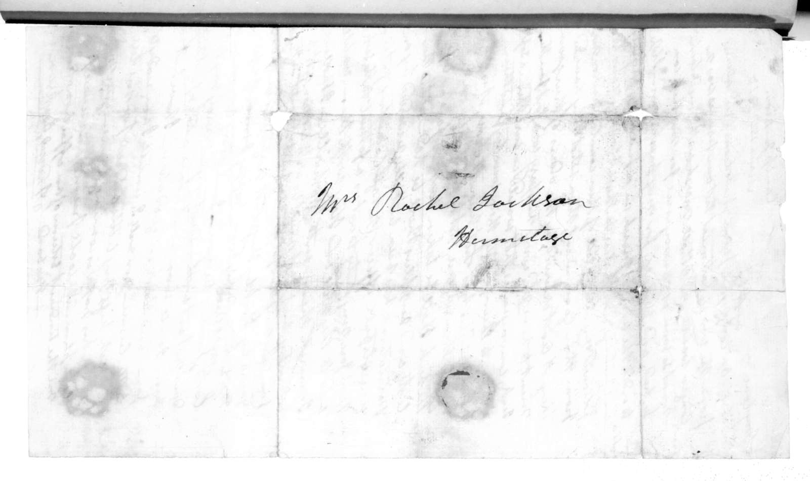 Andrew Jackson to Rachel Donelson Jackson, March 15, 1813