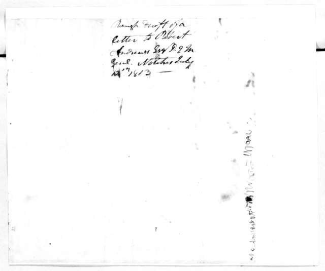 Andrew Jackson to Robert Andrews, July 12, 1813