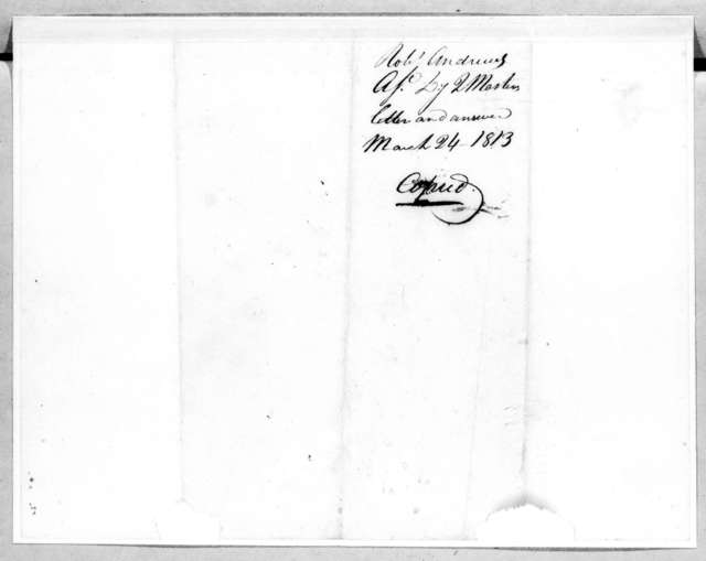 Andrew Jackson to Robert Andrews, March 24, 1813