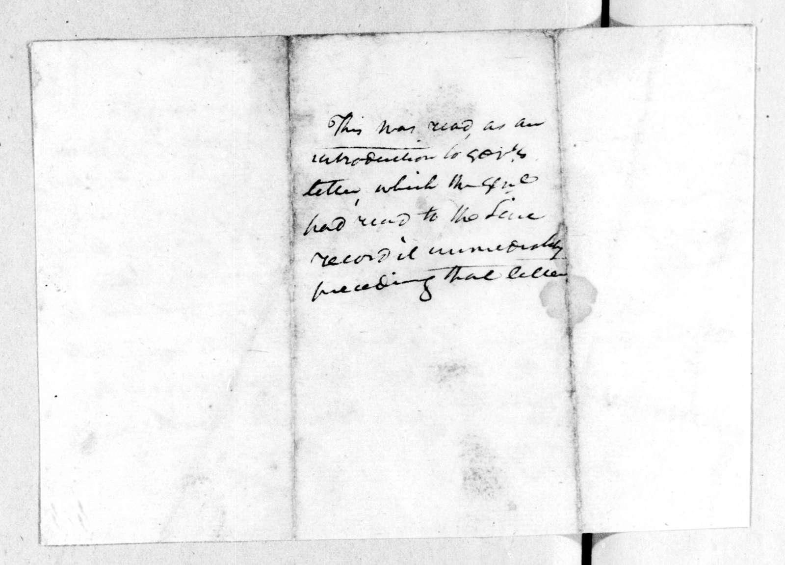 Andrew Jackson to Tennessee Volunteer Brigade, December 2, 1813