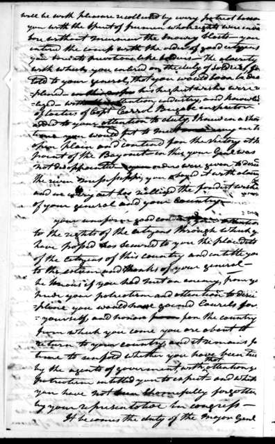 Andrew Jackson to Tennessee Volunteer Brigade, March 22, 1813