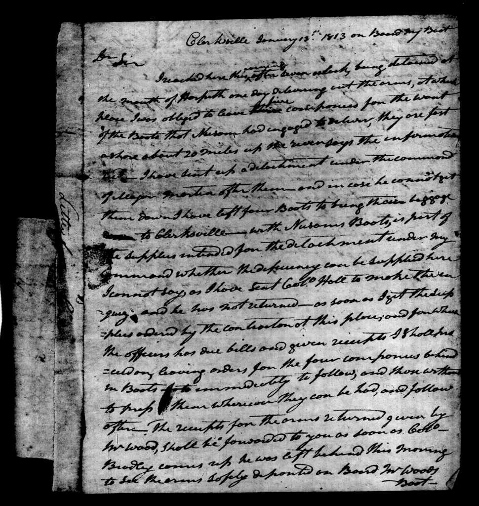 Andrew Jackson to William Berkeley Lewis, January 13, 1813
