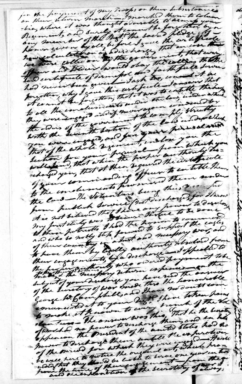Andrew Jackson to William Martin, December 4, 1813