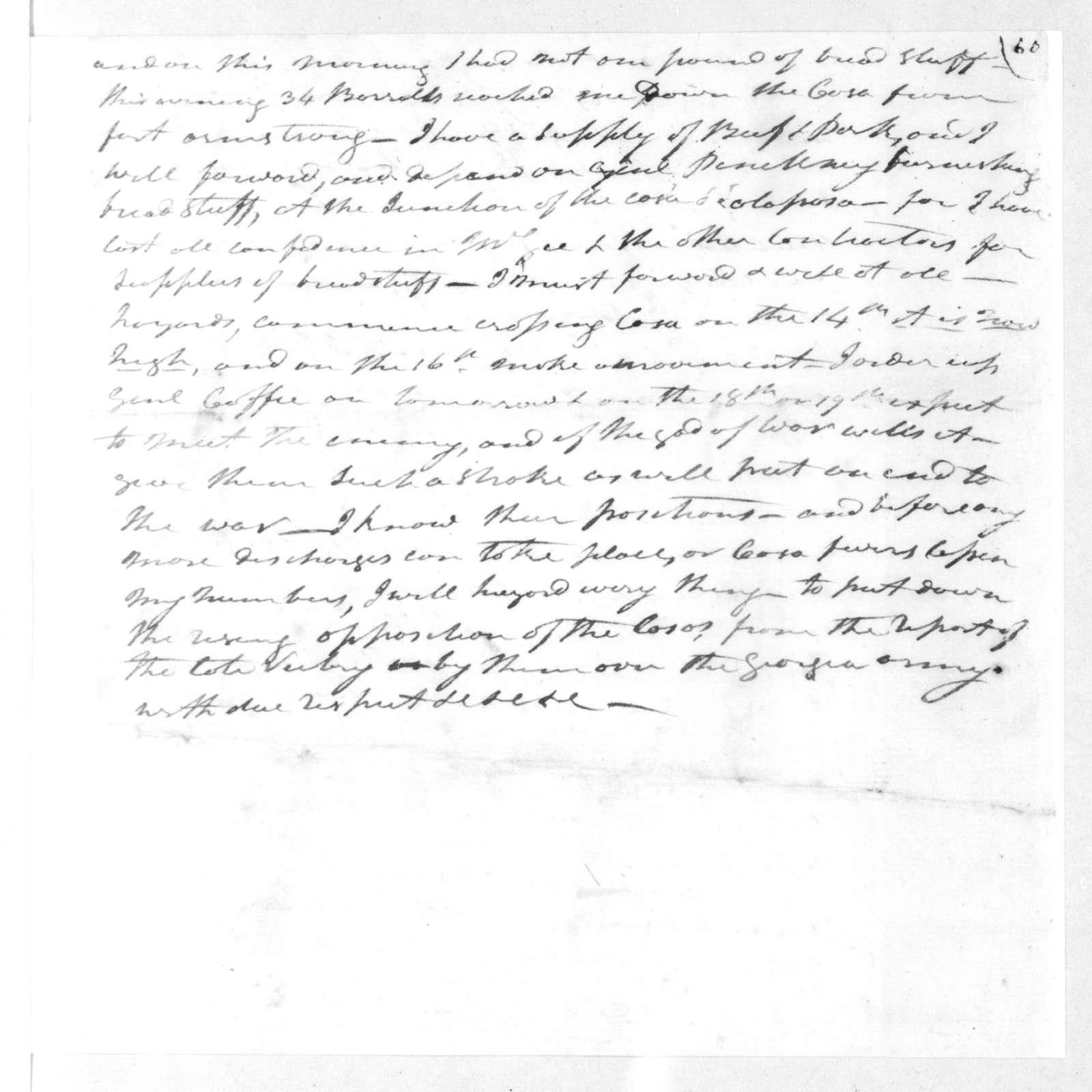 Andrew Jackson to Willie Blount, February 12, 1813