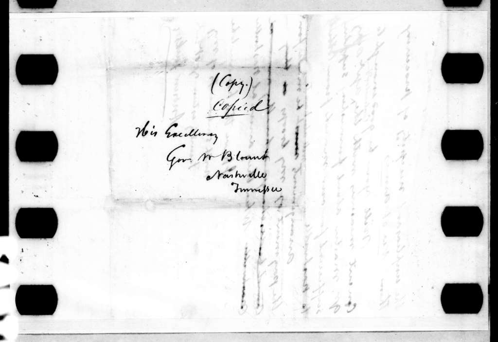 Andrew Jackson to Willie Blount, March 15, 1813