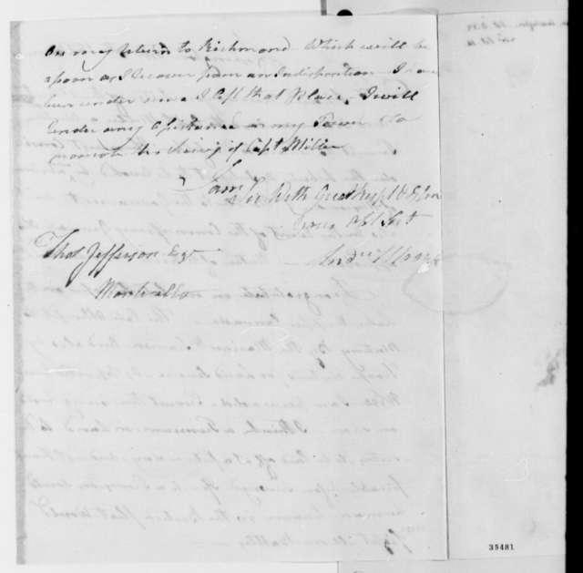 Andrew Moore to Thomas Jefferson, October 8, 1813