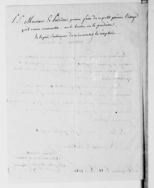 Auguste Rigaud to James Madison, June 11, 1813. In French with poem.