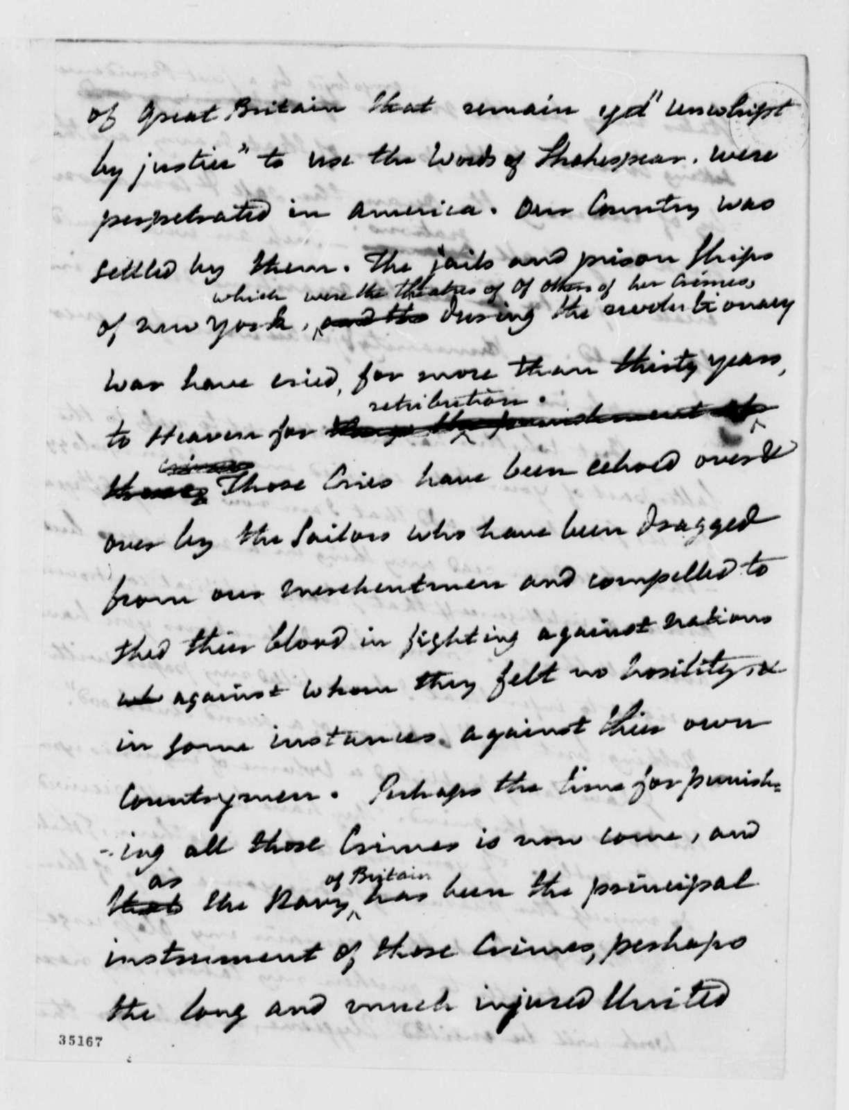 Benjamin Rush to Thomas Jefferson, March 15, 1813