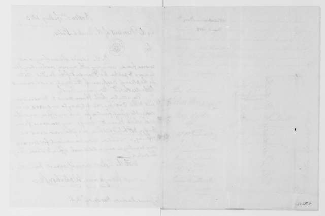 Benjamin Waterhouse to James Madison, May 1, 1813. With written recommendation dated April 28, 1813.