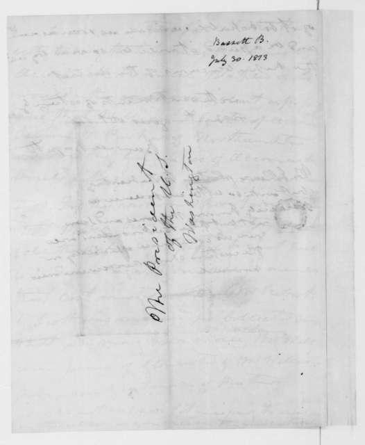 Burwell Bassett to James Madison, July 30, 1813.