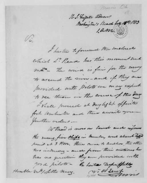 Charles Morris to William Jones, July 15, 1813.