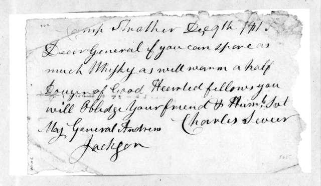 Charles Sevier to Andrew Jackson, December 9, 1813