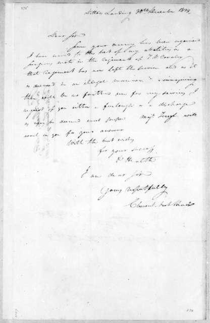 Clement Nash Reid to Andrew Jackson, December 30, 1813