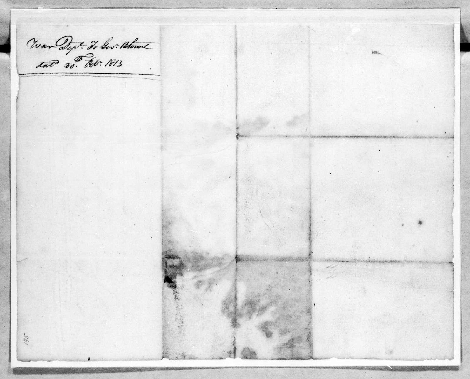 Daniel Parker to Willie Blount, October 30, 1813