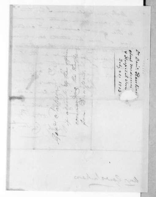 Daniel Rawlings to Andrew Jackson, February 21, 1813