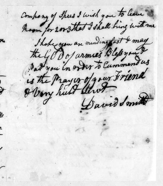 David Smith to Andrew Jackson, September 17, 1813