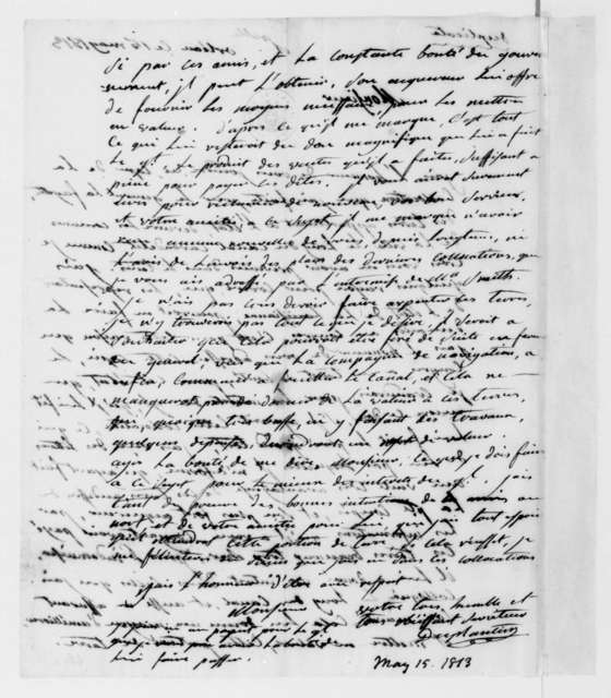Duplantier to James Madison, May 15, 1813. In French.