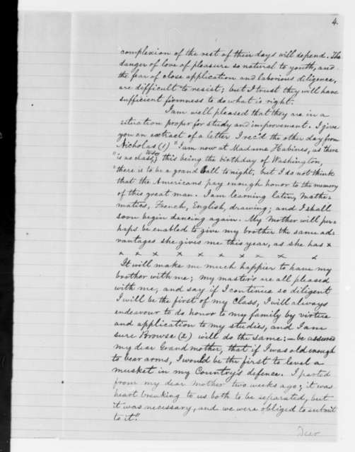 E. Trist to Salley Maria Thompson, April 10, 1813, with Handwritten Transcription