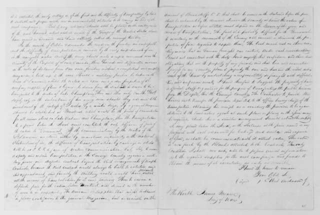 Elbert Anderson Jr. to James Madison, January 6, 1813.