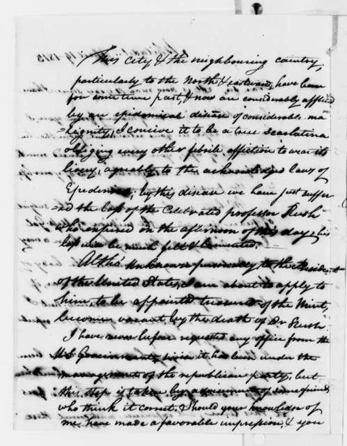 Elijah Griffiths to Thomas Jefferson, April 19, 1813