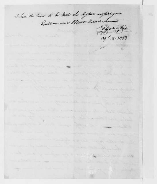 Elijah Mix to James Madison, April 8, 1813.