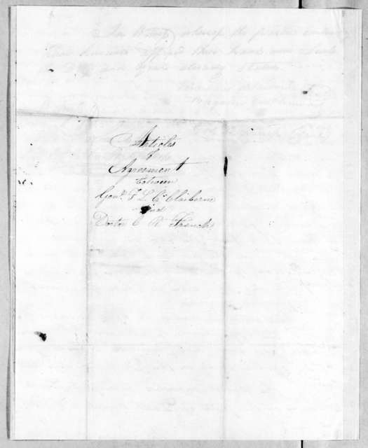 Ferdinand Leigh Claiborne to R. French, July 1, 1813