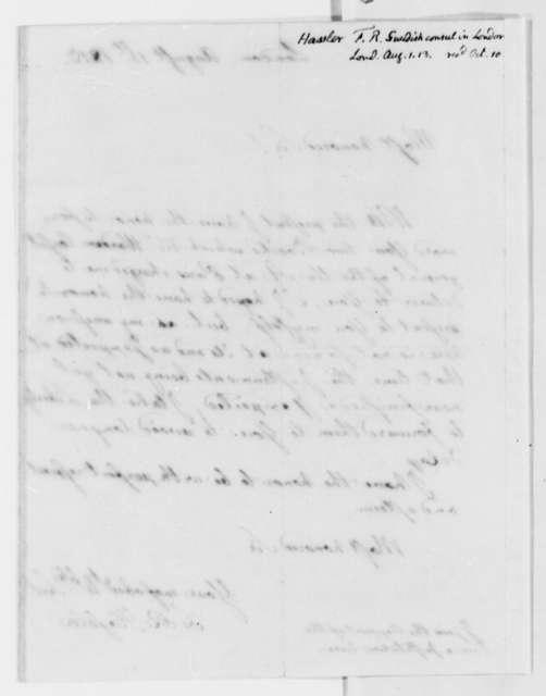 Ferdinand R. Hassler to Robert Patterson, August 1, 1813