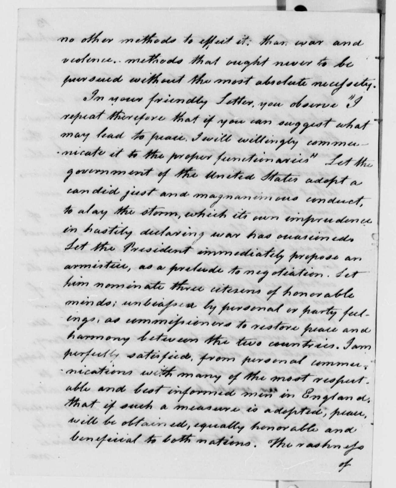 George Logan to Thomas Jefferson, December 9, 1813