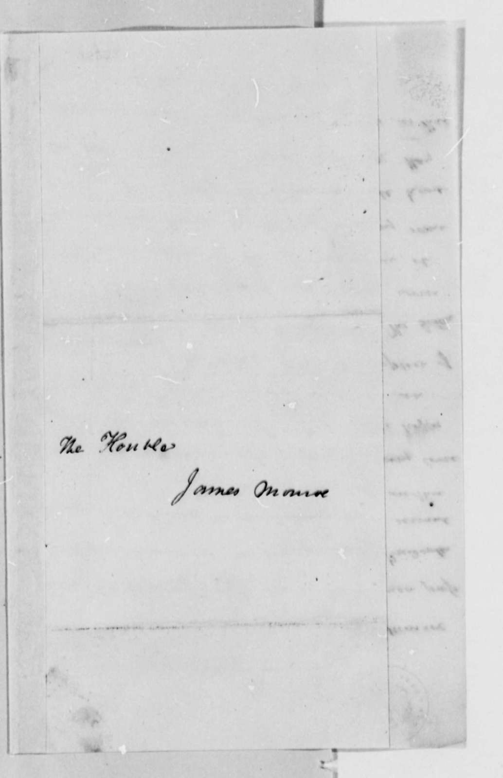 George Poindexter to James Monroe, May 20, 1813