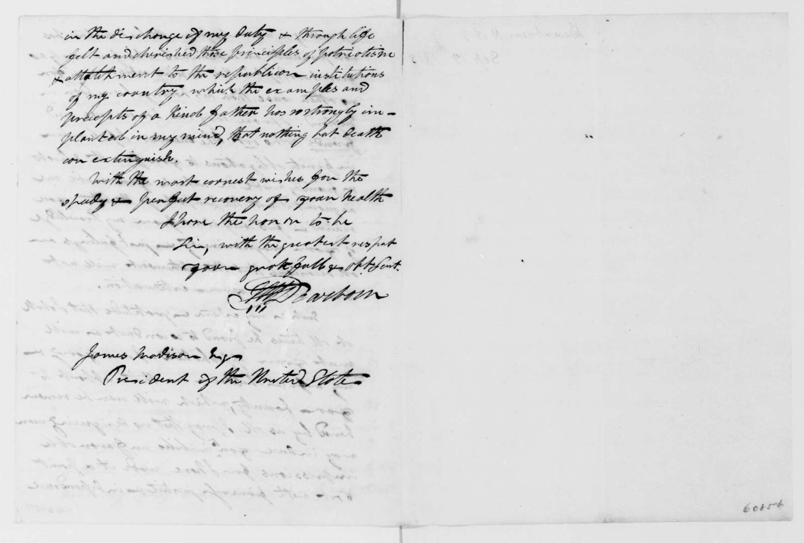 H. A. S. Dearborn to James Madison, September 13, 1813.