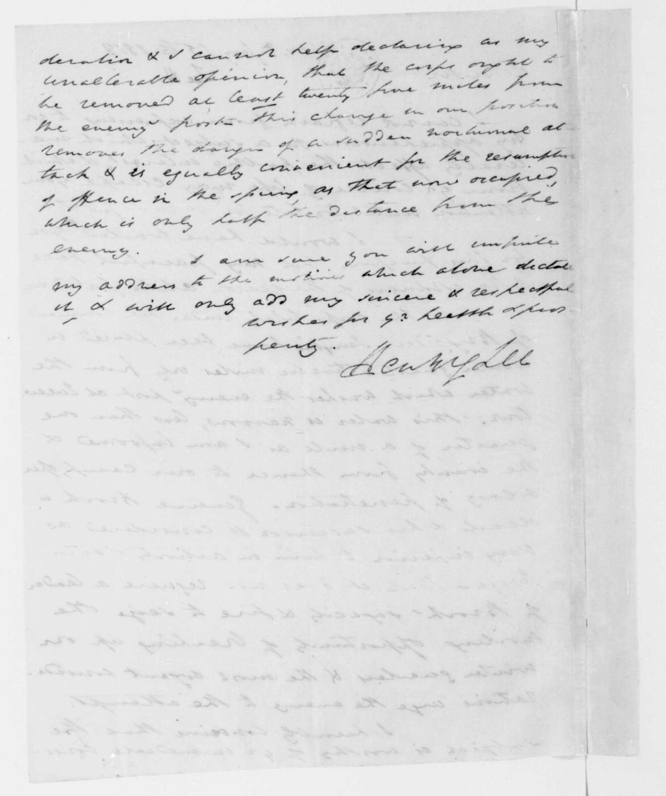 Henry Lee to James Madison, January 15, 1813.