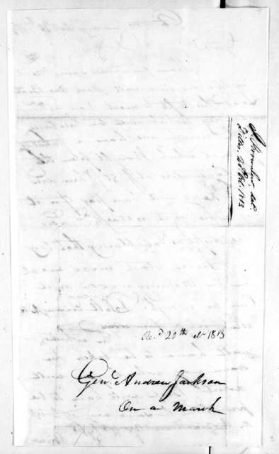 Isaac Brownlow to Andrew Jackson, October 20, 1813